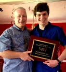 Matt Huntington received Beavercreek HS's outstanding musician award!